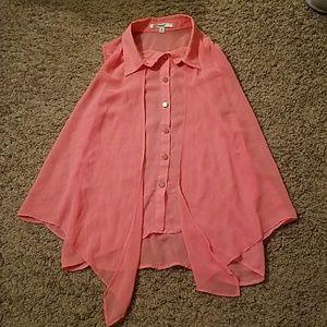 Flowy Sheer Pink Top